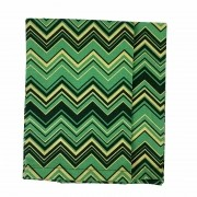 Jogo c/2 guardanapos em algodão, 41 cm,  Christmas Chevron dourado e verde