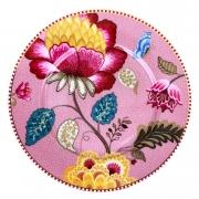 Jogo c/ 2 pratos para pão, porcelana Pip Studio, coleção Floral Fantasy rosa