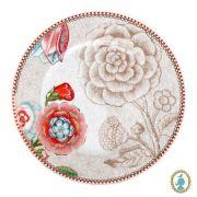 Jogo c/ 2 pratos para pão, porcelana Pip Studio, coleção Spring to Life Off white