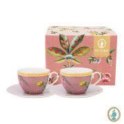 Jogo c/ 2 Xícaras de Chá, 280 ml, porcelana Pip Studio, coleção La Majorelle