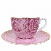 Jogo c/2 Xícaras de chá, 280ml, porcelana Pip Studio, coleção Spring to Life Rosa