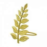 Jogo com 4 Argolas para Guardanapo Leaves Gold