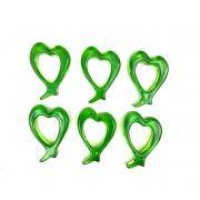Jogo com  6 Argolas / Marcador de Lugar Acrílico verde