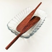 Kit Patê c/ 3 peças, bowl em vidro e espátulas em madeira