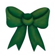 Laço Decorativo em Madeira, 12 cm Verde Natal, para decorar as tábuas de servir