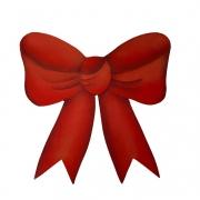 Laço Decorativo em Madeira, 12 cm Vermelho Natal, para decorar as tábuas de servir
