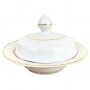 Mantegueira Queen Branca Porcelana c/Filetes Ouro