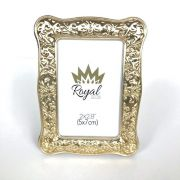 Porta Retrato e Marcador de Lugar Dourado em Metal, 7cm