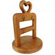 Porta  Xícaras de Café Heart em madeira, 25 cm, desmontável