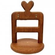 Porta  Xícaras de Café Hearts em madeira, 23 cm, desmontável