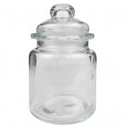 Pote de Vidro c/ tampa e puxador, c/vedação, 260 ml, 12 cm
