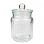 Pote de Vidro c/ tampa e puxador, c/vedação, 750 ml, 16 cm