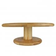 Prato p/Bolo em Bambu c/pé , 27,5 cm, desmontável