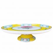 Prato p/ Bolo Pip Studio, 21 cm, coleção Blushing Birds Amarelo