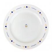 Prato p/ Sobremesa em Porcelana, 20cm, Coleção Exclusiva Poções de Amor