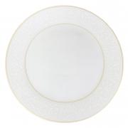 Prato p/ Sobremesa, 19 cm, Porcelana Wolff c/ Filete Dourado