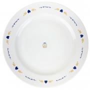 Prato Raso, em porcelana 25,5 cm diâmetro, coleção exclusiva Poções de Amor