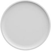Prato Raso, em porcelana 26 cm diâmetro, branco