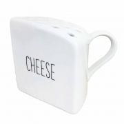 Queijeira Cheese em Porcelana, 250g, Coleção Exclusiva Lettering
