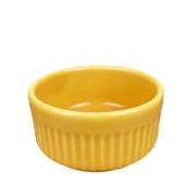 Ramekin de Porcelana refratário, Amarelo de 50ml