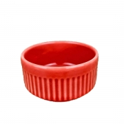Ramekin de Porcelana refratário, Vermelho de 50ml