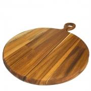 Tábua p/Frios Gourmet, 36 cm em madeira teca