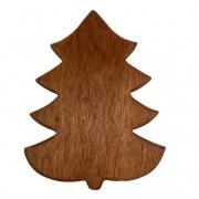 Tábua p/ Servir modelo Christmas Tree em madeira nobre, 23 cm - ENVIO DIA 29/10