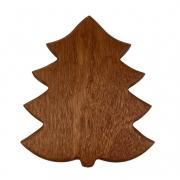 Tábua p/ Servir Modelo Christmas Tree em Madeira Nobre, 29 cm
