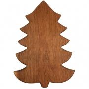 Tábua p/ Servir Modelo Christmas Tree em Madeira Nobre, 38 cm