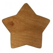 Tábua p/ Servir modelo Estrela de Natal em madeira nobre, 23 cm - ENVIO DIA 29/10