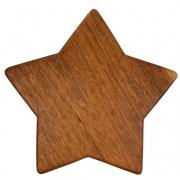 Tábua p/ Servir Modelo Estrela de Natal em Madeira Nobre, 28 cm