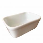 Travessa Retangular porcelana branca, 11 cm