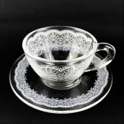 Xícara de Café, 100 ml em vidro, coleção exclusiva Rendas