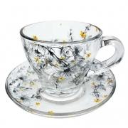 Xícara de Chá, 225 ml em vidro, coleção exclusiva Garden Bee