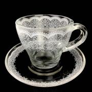Xícara de Chá, 225 ml em vidro, coleção exclusiva Rendas