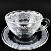 Xícara de Chá, 240 ml em vidro, coleção exclusiva Rendas