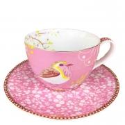 Xícara de Chá, 280ml, porcelana Pip Studio, coleção Early Bird Rosa