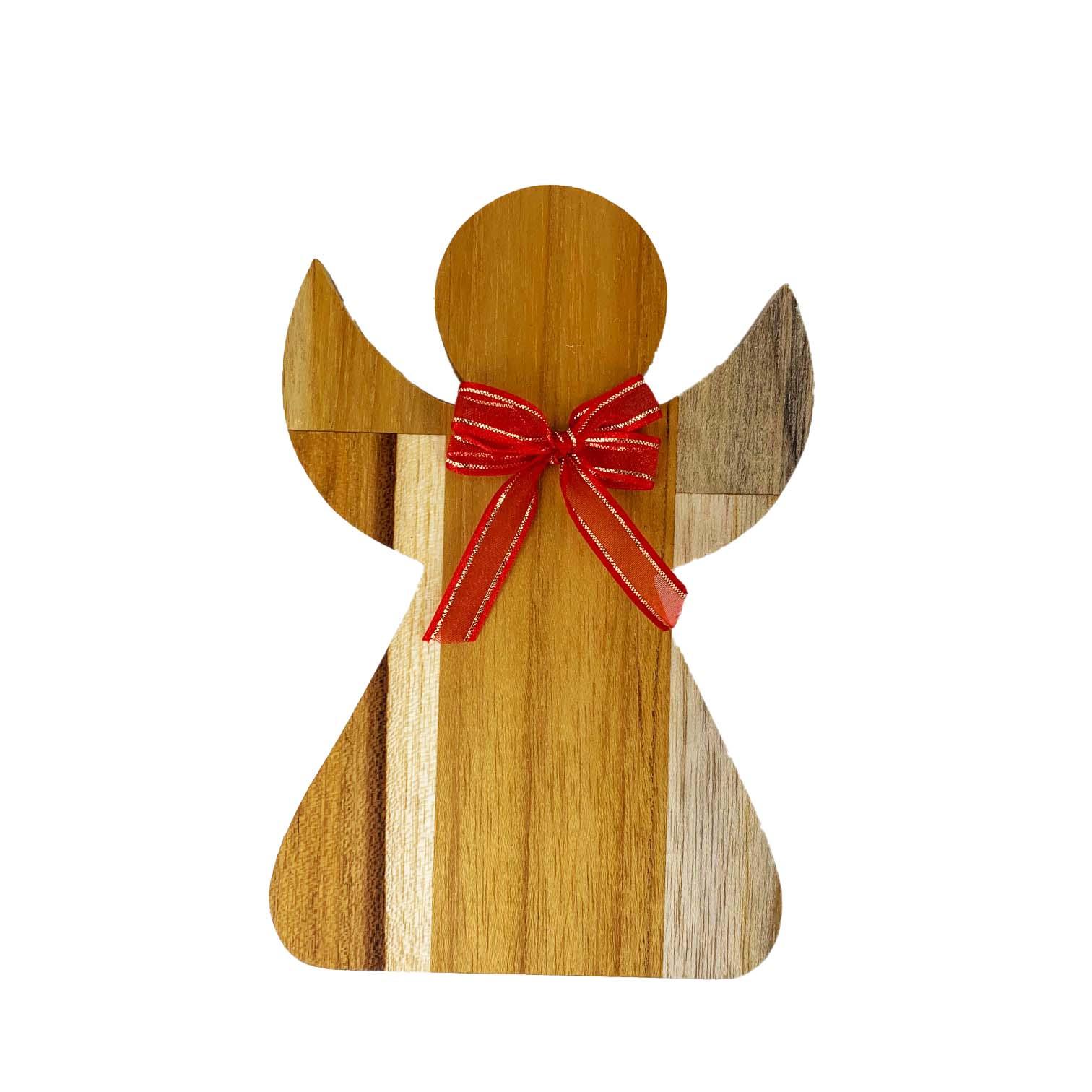 Anjo Decorativo laço vermelho 15cm