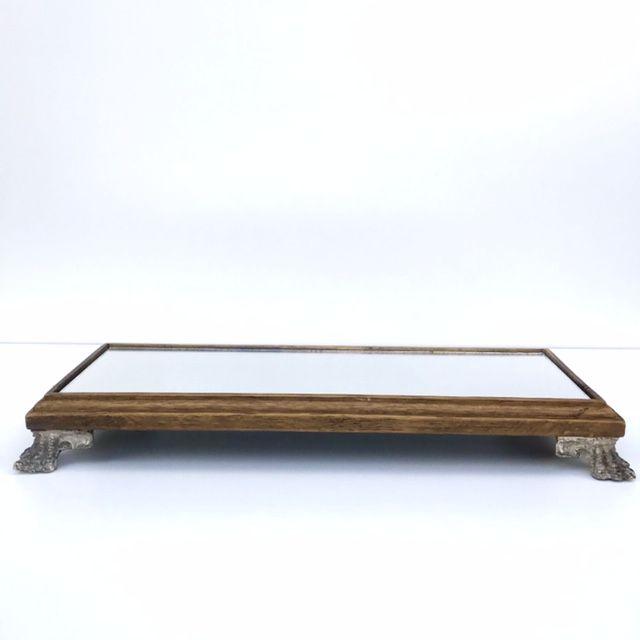 Bandeja para Lavabo Espelhada Cru 34 cm