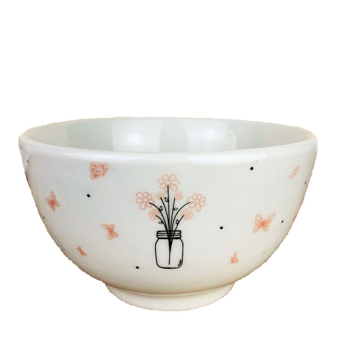 Bowl em porcelana, 500 ml, coleção exclusiva Garden