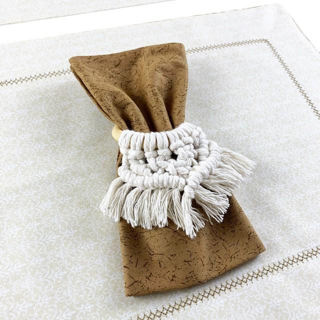 Box Boho Chic Off White 2 Lugares c/ 6 peças