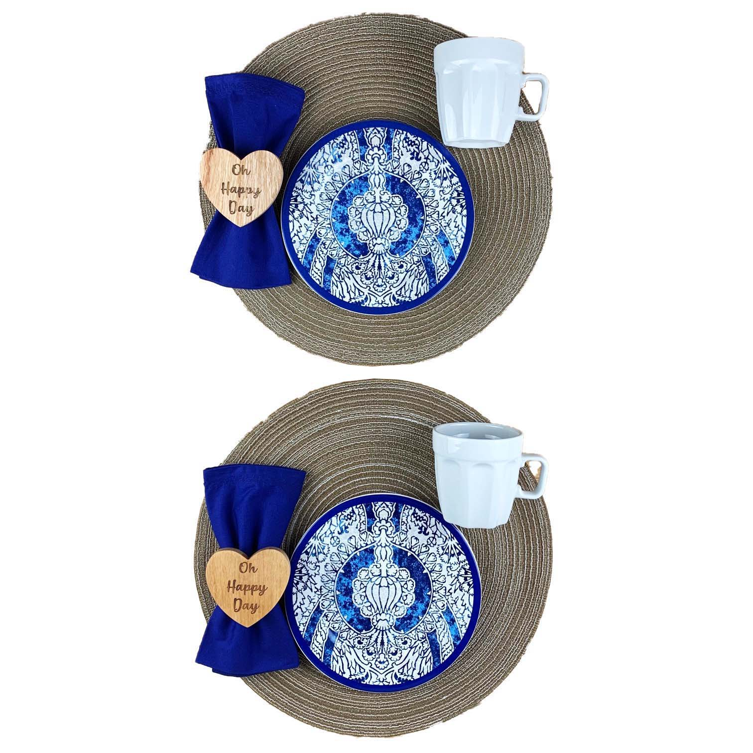 Box Café da Manhã Azul e Fendi com 10 peças