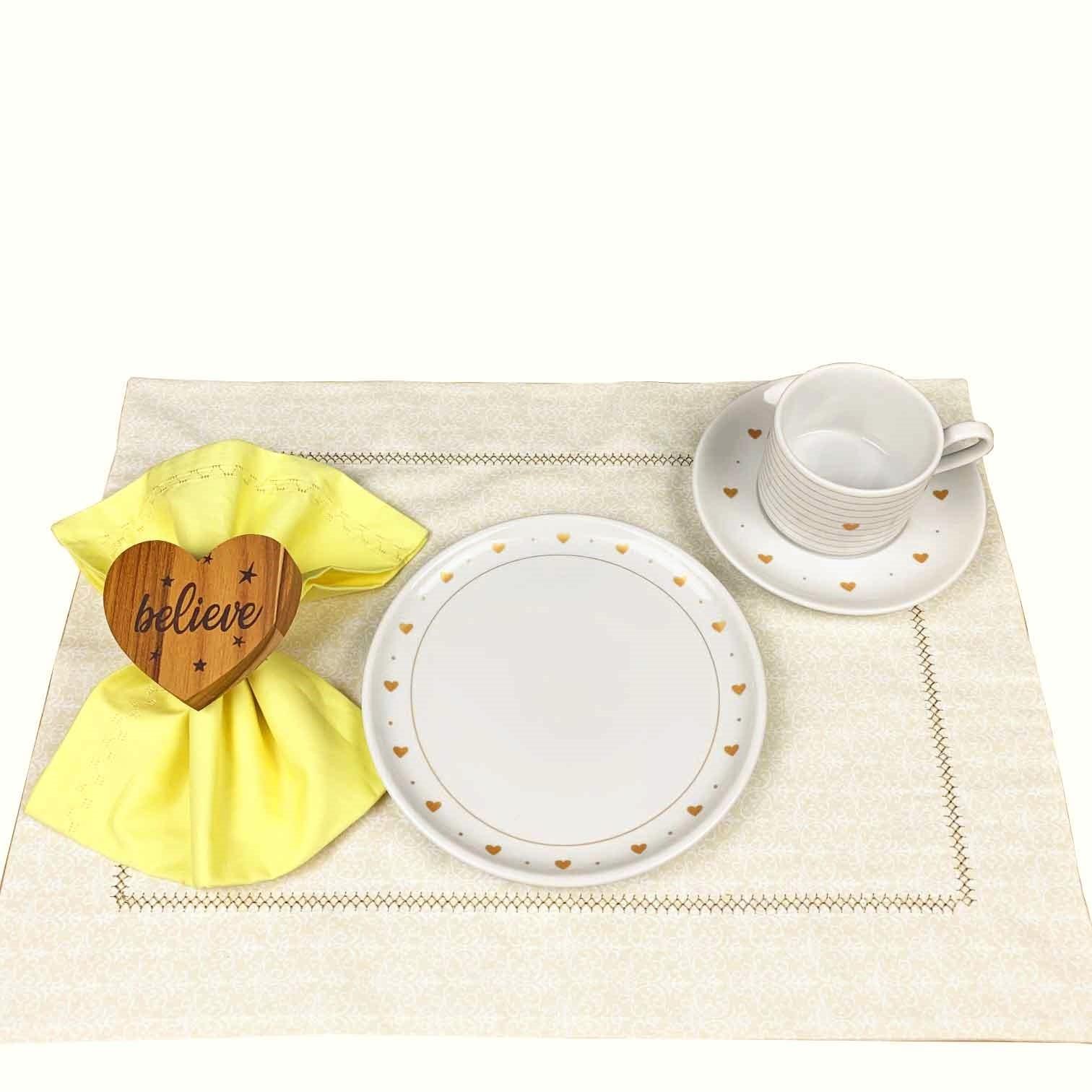 Box Café da Manhã Golden Mary com 12 peças