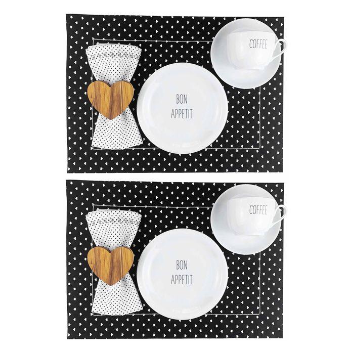 Box Café da Manhã Mini Hearts c/ 12 peças, coleção exclusiva Lettering