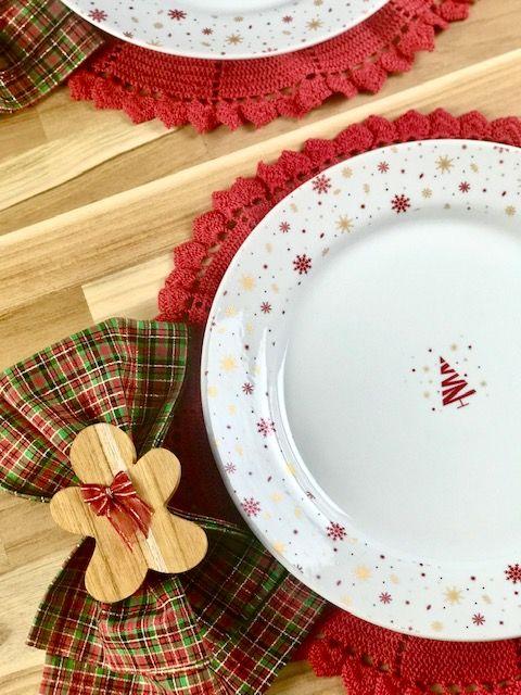 Box Christmas Ginger vermelho c/ 8 peças