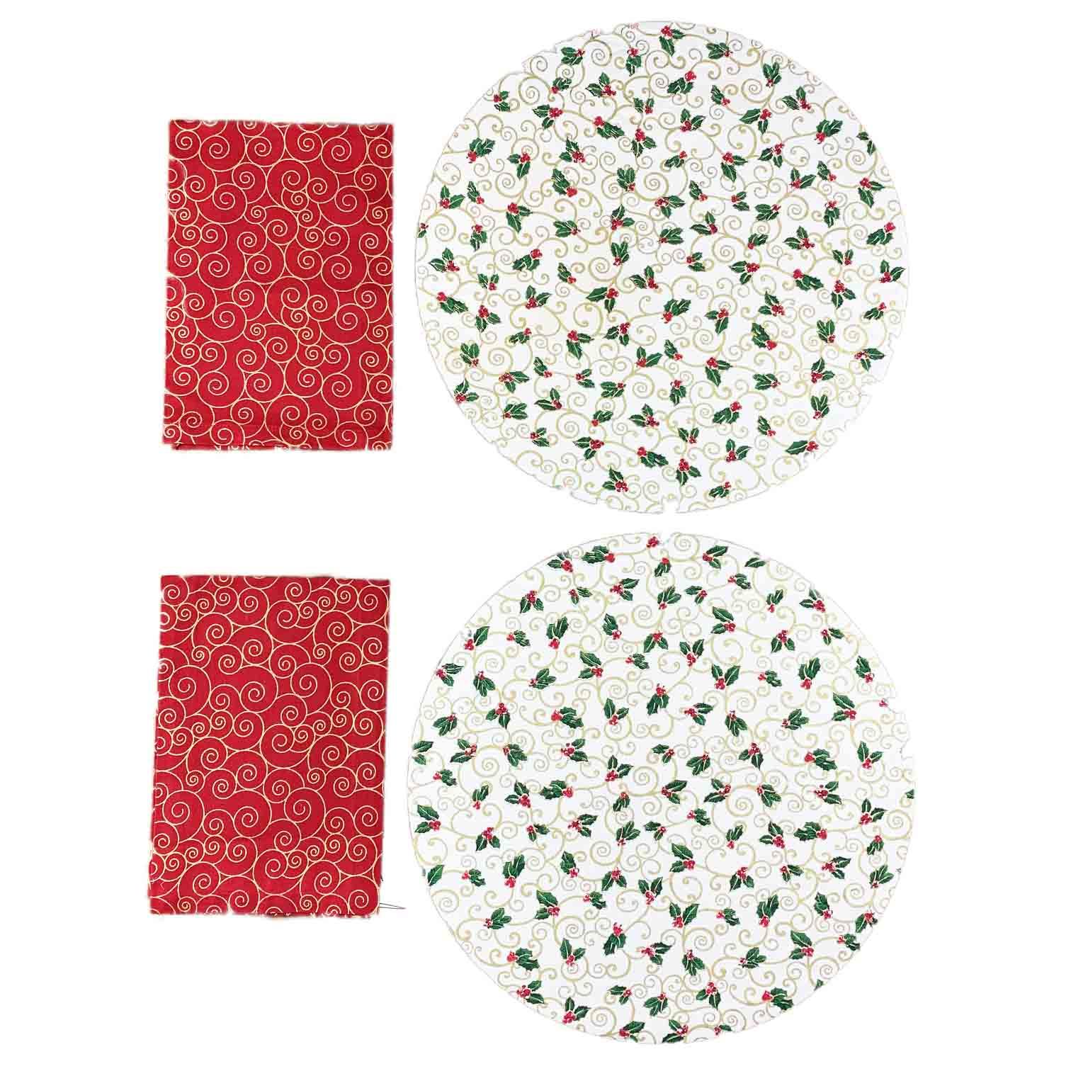 Box Christmas Azevinho vermelho c/4 peças