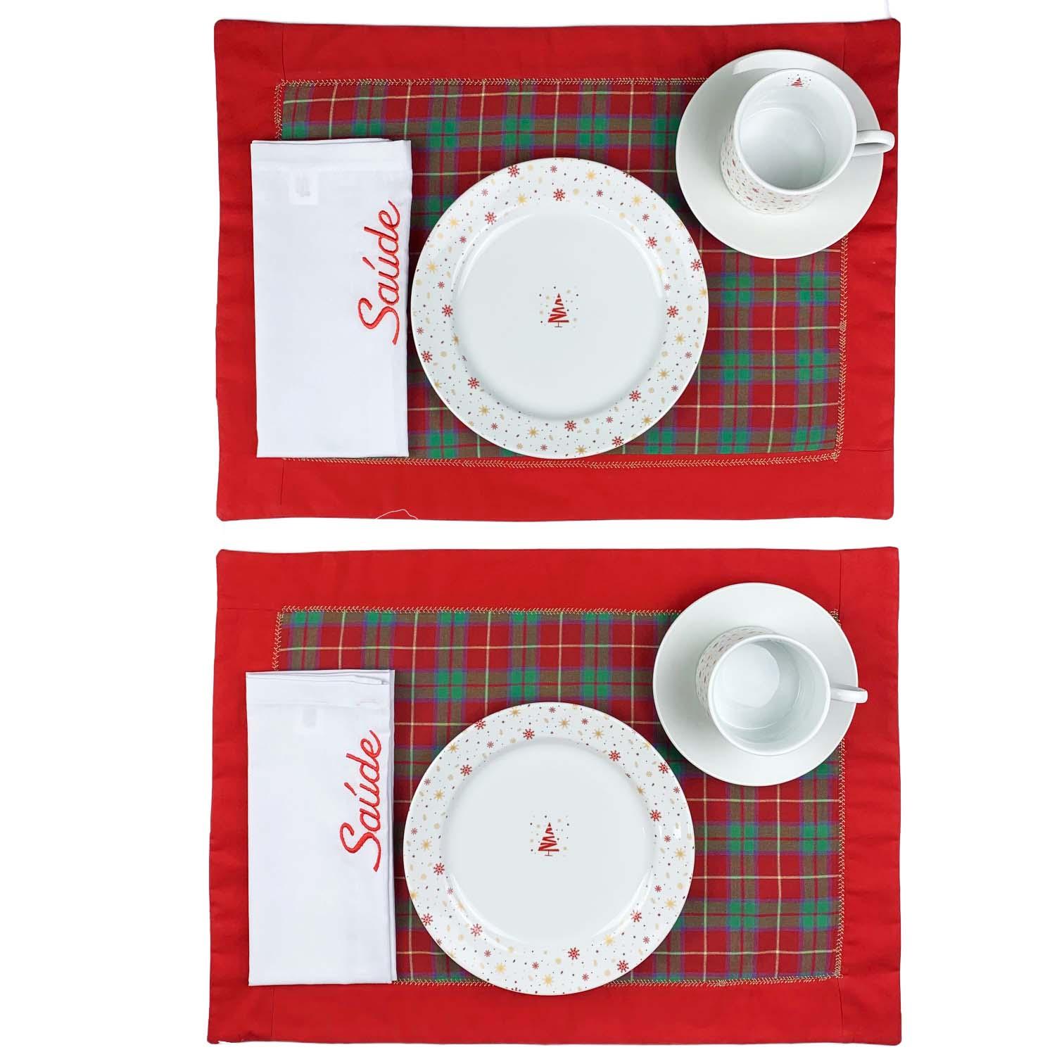 Box Christmas Tartan Saúde c/10 peças