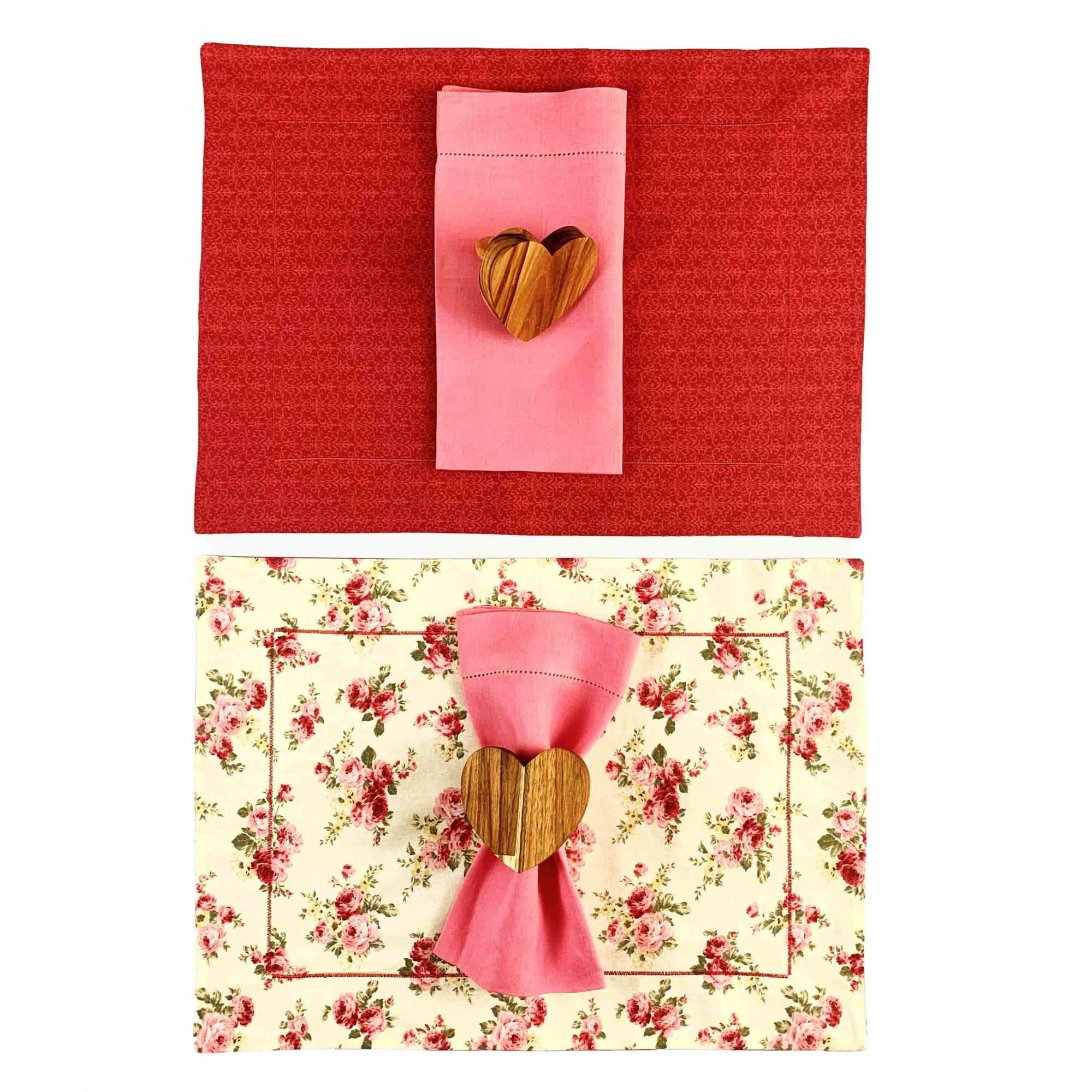 Box Floral Dupla Face c/6 peças