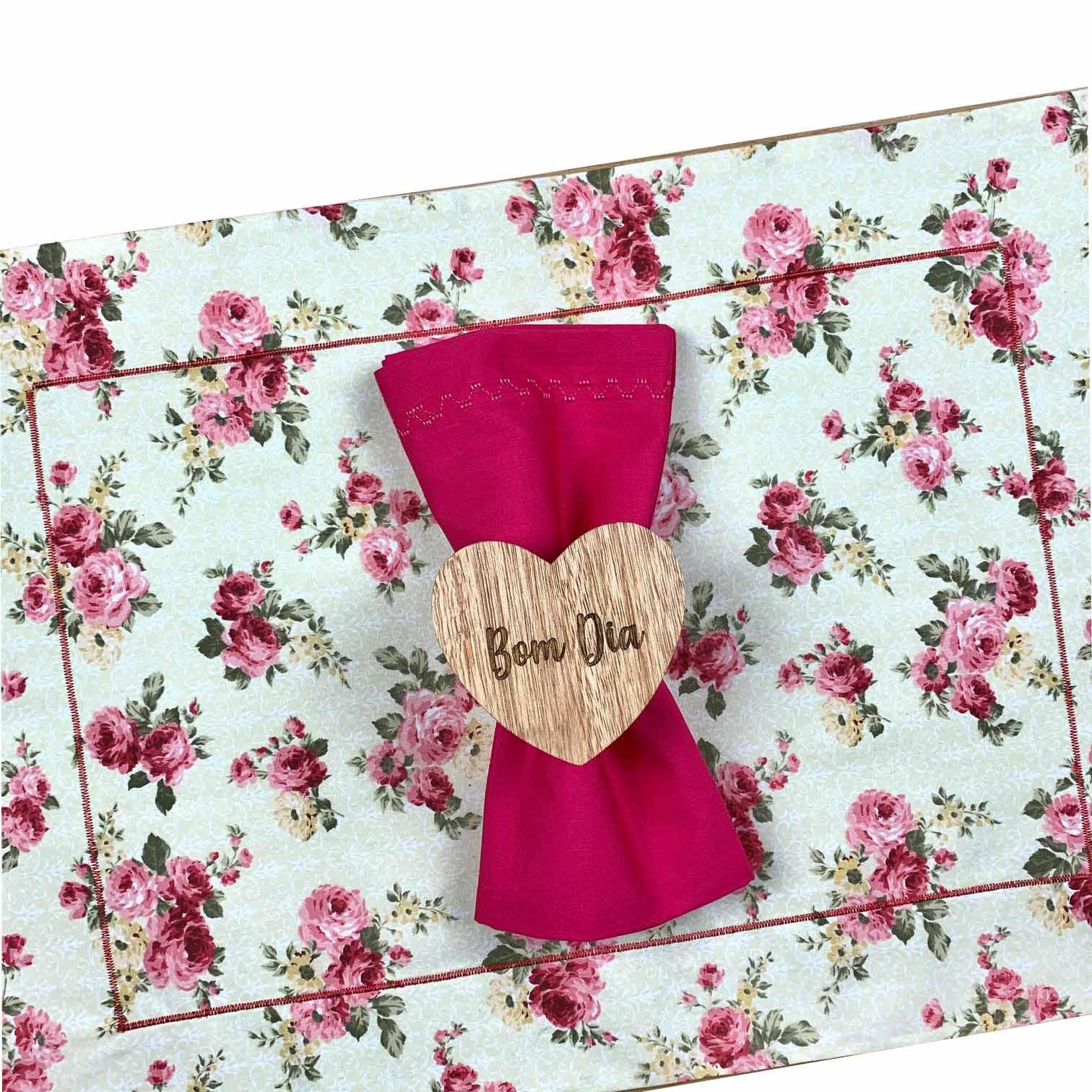Box Floral Pink Bom dia c/ 6 peças