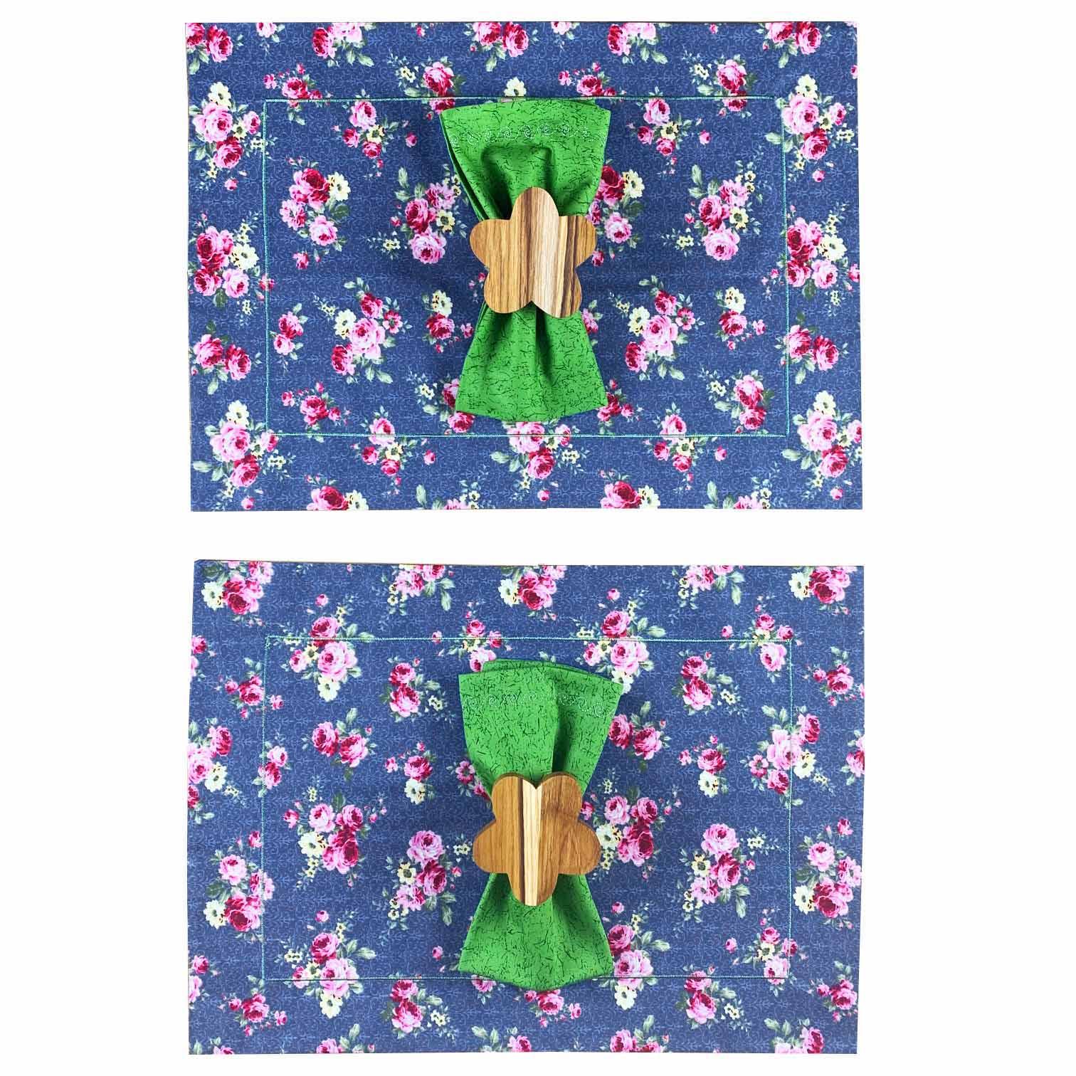 Box Garden Flower Azul c/ 6 peças